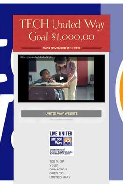 TECH United Way Goal $1,000.00