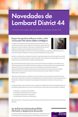 Novedades de Lombard District 44