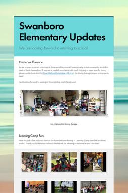 Swanboro Elementary Updates