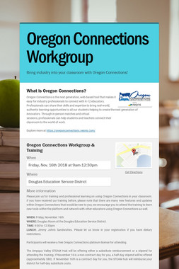 Oregon Connections Workgroup
