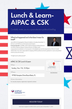 Lunch & Learn- AIPAC & CSK
