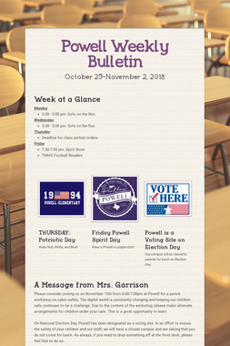 Powell Weekly Bulletin