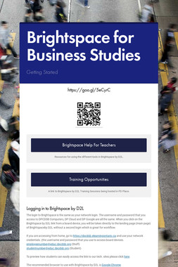 Brightspace for Business Studies