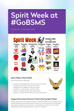 Spirit Week at #GoBSMS