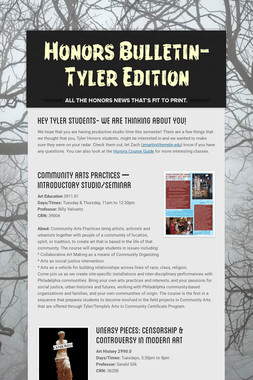 Honors Bulletin-Tyler Edition