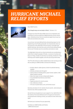 HURRICANE MICHAEL RELIEF EFFORTS