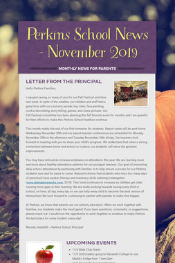 Perkins School News - November 2019