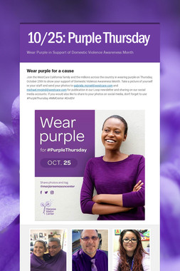 10/25: Purple Thursday