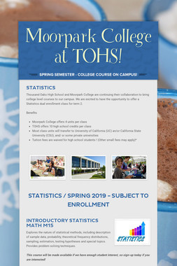 Moorpark College at TOHS!