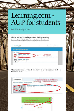 Learning.com - AUP for students