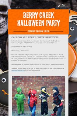 Berry Creek Halloween Party