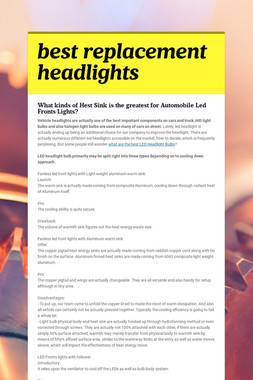 best replacement headlights