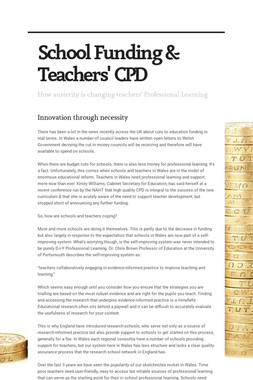School Funding & Teachers' CPD