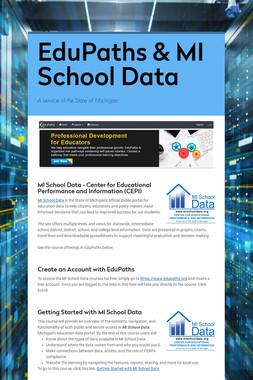 EduPaths & MI School Data