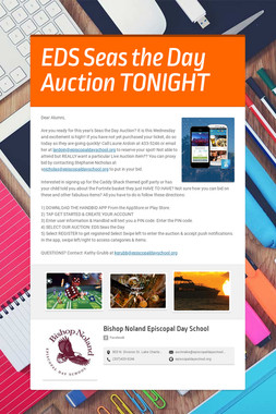EDS Seas the Day Auction TONIGHT