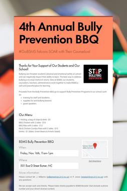 4th Annual Bully Prevention BBQ