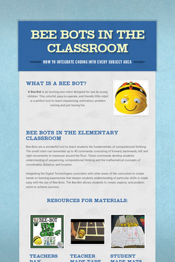 Bee Bots in the Classroom