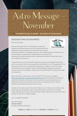 Astro Message - November