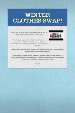 Winter Clothes Swap!