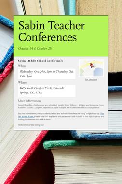Sabin Teacher Conferences