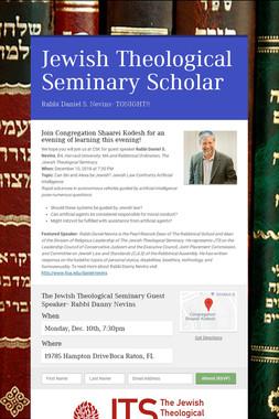 Jewish Theological Seminary Scholar