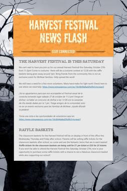 Harvest Festival News Flash