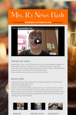Mrs. R's News Flash