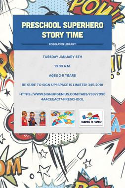 Preschool Superhero Story Time