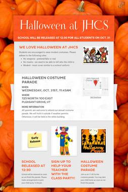 Halloween at JHCS