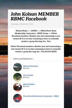 John Kolsun MEMBER RBMC Facebook