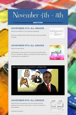 November 4th - 8th