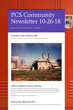 PCS Community Newsletter 10-26-18