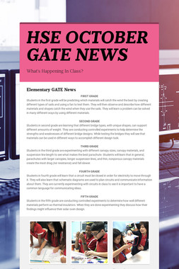 HSE OCTOBER GATE NEWS