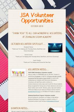 JSA Volunteer Opportunities