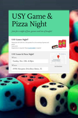 USY Game & Pizza Night