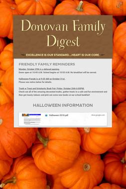 Donovan Family Digest