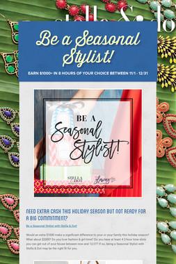 Be a Seasonal Stylist!