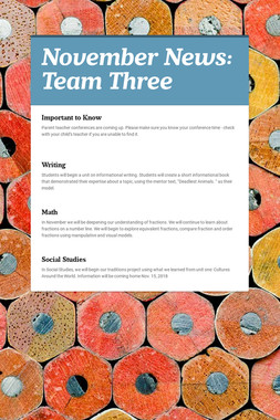 November News: Team Three