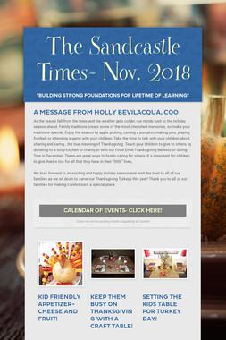 The Sandcastle Times- Nov. 2018