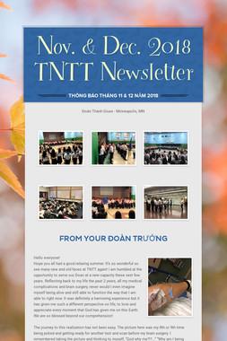 Nov. & Dec. 2018 TNTT Newsletter
