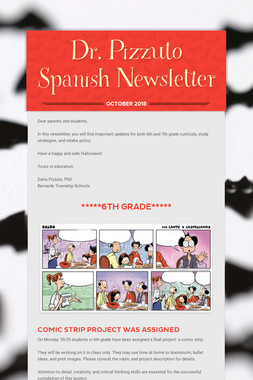 Dr. Pizzuto Spanish Newsletter