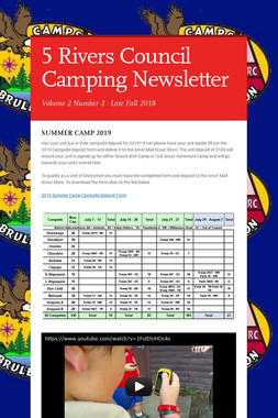 5 Rivers Council Camping Newsletter