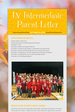 LV Intermediate Parent Letter