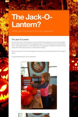 The Jack-O-Lantern?