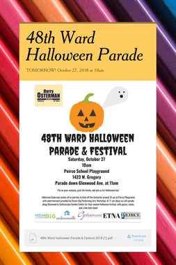 48th Ward Halloween Parade
