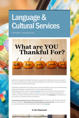 Language & Cultural Services