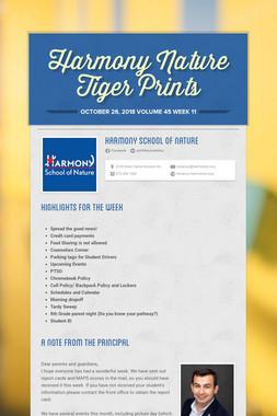 Harmony Nature Tiger Prints