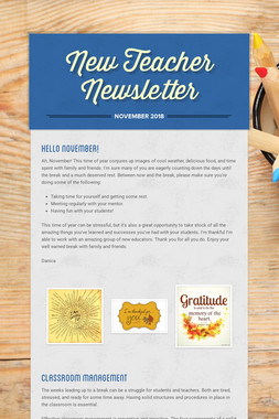 New Teacher Newsletter