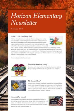 Horizon Elementary Newsletter