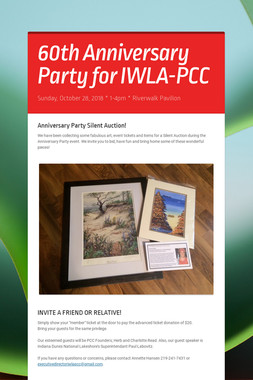 60th Anniversary Party for IWLA-PCC